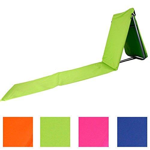 """faltbare strandliege mit lehne und tasche in 4 sommerlichen farben modell relax gruen - Faltbare Strandliege mit Lehne und Tasche in 4 sommerlichen Farben Modell """"RELAX"""" (Grün)"""