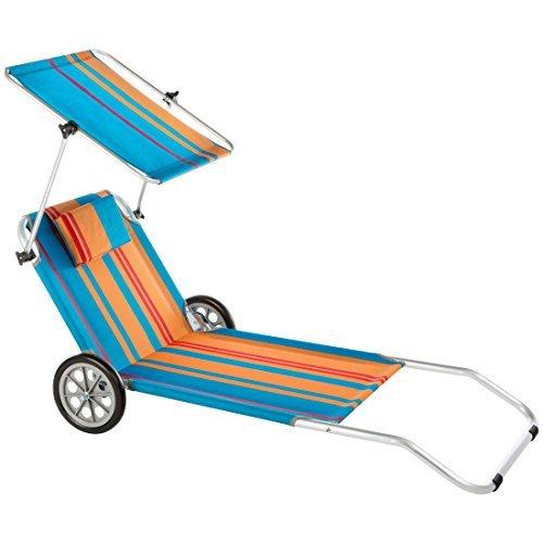 ultranatura strandliege nizza mit sonnendach und raedern - Ultranatura Strandliege Nizza mit Sonnendach und Rädern