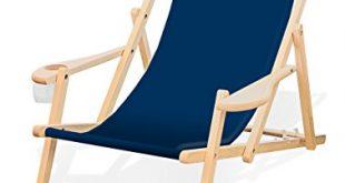 Holz Liegestuhl mit Armlehne und Getraenkehalter Klappbar Wechselbezug Dunkelblau 310x165 - Holz-Liegestuhl mit Armlehne und Getränkehalter, Klappbar, Wechselbezug (Dunkelblau)