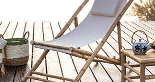 Dekoleidenschaft Liegestuhl aus Bambus Canvas Creme klappbar Campingliege Gartenliege 310x165 - Dekoleidenschaft Liegestuhl aus Bambus & Canvas, Creme, klappbar, Campingliege, Gartenliege, Strandliege